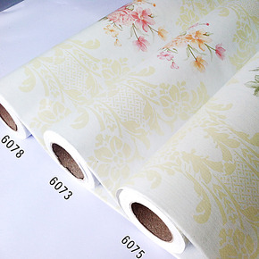 欧式仿古牡丹 PVC自粘背胶墙纸婚房卧室客厅沙发电视背景时尚壁纸