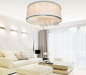 华丽灯饰现代时尚创意奢华水晶布艺吸顶灯客厅餐厅卧室吸顶灯包邮