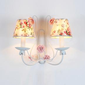 蝴蝶兰 田园现代简约创意壁灯家居双头壁灯卧室床头壁灯过道灯