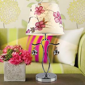 【尚美瑞】简约现代大厅 创意床头灯 卧室水晶台灯可调光KM015-5