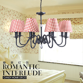 现代欧式田园地中海创意简约布艺吊灯具客厅餐厅卧室书房宜家灯饰