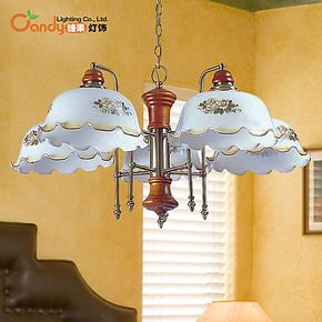 现代欧式创意简约铁艺三头吊灯灯饰客厅卧室餐厅书房宜家美式灯具