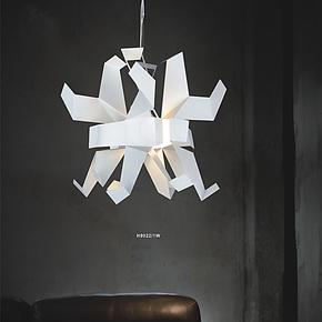 【柴火】米兰设计千纸鸽吊灯简约现代创意灯罩餐厅灯卧室客厅吊灯