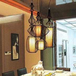 【柴火家居】创意简约卧室餐厅吊灯 大贵族吊灯 鸟笼吊灯