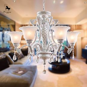 芮诗凯诗 欧式铁艺简约创意吊灯卧室客厅餐厅现代三六八头吊灯