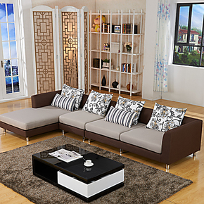 小户型沙发 客厅组合沙发 全友家私沙发正品 布艺沙发现代简约