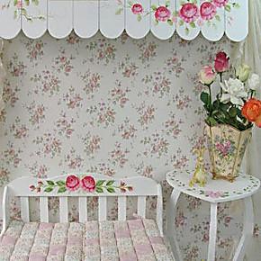 特普丽 墙纸 田园风格墙纸 客厅卧室壁纸 墙纸小碎花壁纸 特价卷