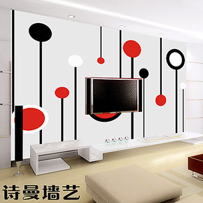 墙纸墙艺 大型壁画 壁纸 客厅/沙发/卧室墙 抽象《视觉艺术》