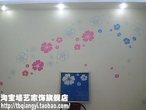 HC-1008花草特价液体壁纸漆模具 印花液态壁纸背景墙液态墙纸工具