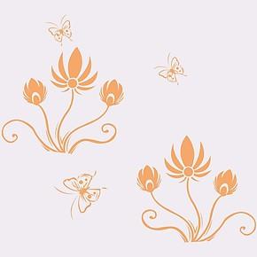 液体壁纸漆/印花模具/丝印网板/墙面印刷模板/液态墙纸壁纸H028