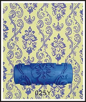 欧式液体壁纸印花滚筒刷墙工具液体墙纸滚花模具墙漆印花滚筒025Y