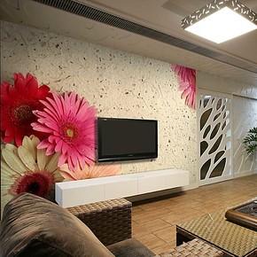 电视背景墙纸壁纸墙布衣客厅卧室沙发自粘 大型壁画个性时尚 雏菊