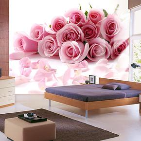 欧尚 卧室床头玄关背景墙纸壁纸浪漫温馨特价免邮防水 情侣玫瑰花
