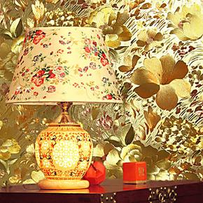 冉冉墙纸|特价5.3平金箔纸★客厅酒店餐厅KTV背景墙壁纸-田园碎花