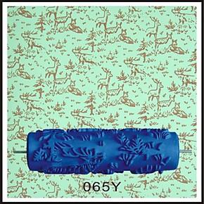 微博液体壁纸油漆滚筒印花小鹿滚花模具液体墙纸墙漆印花滚筒065Y