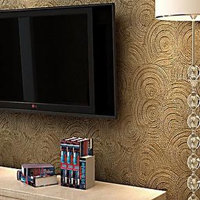 奢华立体3d墙纸 简欧时尚大花特厚深压纹 卧室客厅电视背景墙壁纸