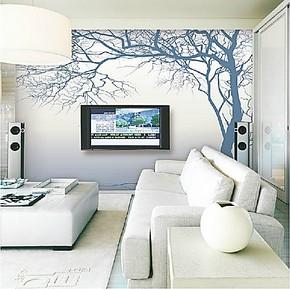 大型壁画 现代简约墙纸 客厅沙发卧室电视墙壁纸 精美树 家装材料