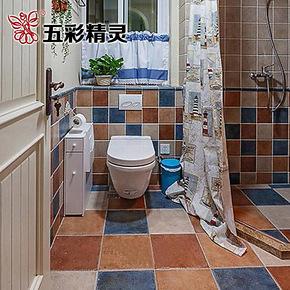 五彩精灵仿古砖 美式乡村风格 厨房卫生间 防滑地砖 阳台瓷砖墙砖
