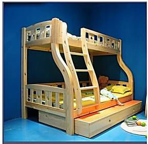 苏州贵人缘松木家具 子母床 上下铺双层床 儿童实木床 高低架子床