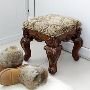 博纳斯欧美式家具 实木换鞋凳 休闲凳 客厅凳子 包邮 现货