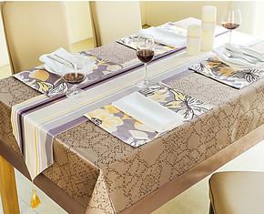 康乃馨 康尔馨 真丝 餐饮套件 五星酒店会所 桌布 桌旗 西餐垫