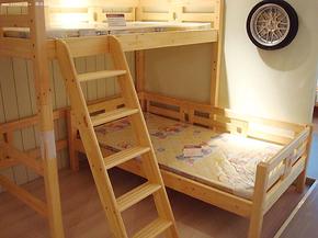 纯原木松木家具/ 松木儿童床/实木儿童床/子母床 上下床 高低床