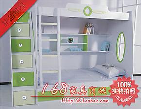 高低床 儿童双层床 宜家子母床 上下床 绿色组合床 带梯柜品牌