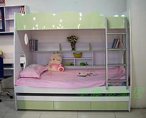 儿童上下床子母床/高低床/环保亮光烤漆/浅绿/宜家特价