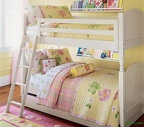 宜家实木高低上下床高低床子母床实木高低子母床松木双层床两层床