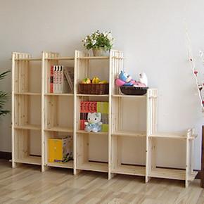 正品包邮宜家简易书架书柜特价儿童实木置物架创意鞋架12格架加厚