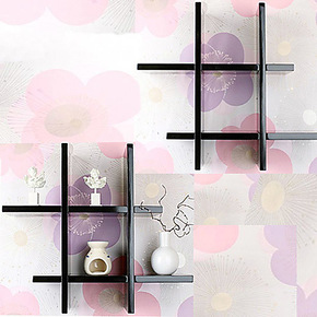 井字形搁板 时尚博物书架 悬挂格子 简约置物壁架 创意展示装饰架