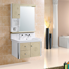 欧尔勒 卫浴柜洗脸盆 时尚高档浴室柜 带龙头全套配件镜前灯C9193