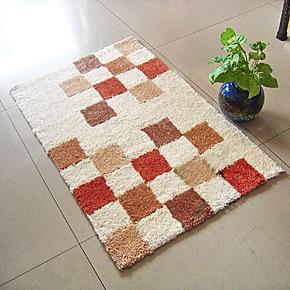 DIY钩针毛线绒绣 毛绒坐垫,地垫,沙发垫,门垫,脚垫 英伦格子3