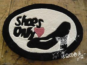纯手工 客厅地毯时尚 欧式简约衣帽间地毯 加厚地垫DQ616高跟鞋