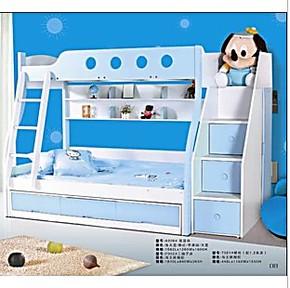 重庆1.2板式实木家居儿童双层床子母床高低床上下床儿童床特价