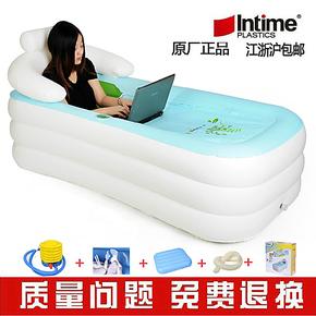 正品加大加厚木桶折叠洗浴盆/塑料洗澡盆泡澡沐浴桶/成人充气浴缸