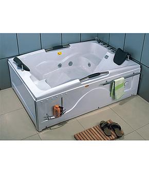 亚克力长方形双人冲浪按摩浴缸 压克力浴盆1.8*1.2米左右裙