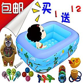 包邮 小孩婴幼儿童宝宝家庭超大号充气游泳池浴池浴缸洗澡盆加厚