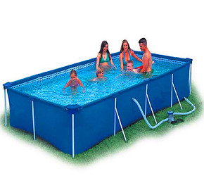 正品大型成人支架式水池家庭浴缸儿童游泳池超大充气戏水养殖鱼池