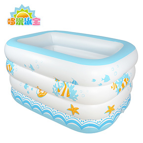 正品婴儿游泳池婴宝宝沐浴盆家庭保温充气浴缸加厚充气游泳池包邮