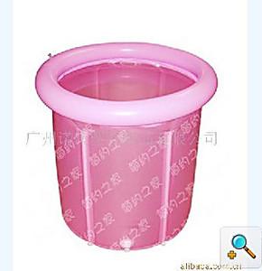 2012新款折叠浴桶*折叠沐浴桶*折叠浴缸充气浴缸桶圈分离式70*70