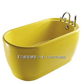 全彩亚克力浴缸/坐凳式深泡缸/1.4m家庭SPA小浴缸/泡泡缸 3301