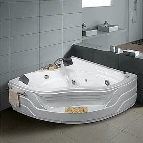 高档奢华黄晶石亚克力/珠光板双人按摩浴缸三角形五件套浴缸1.5米