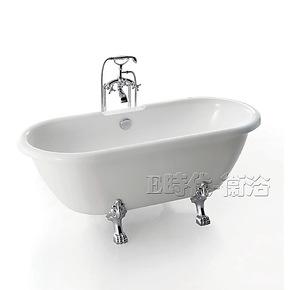 1.74银脚压克力贵妃缸 落地式单人一体成型浴缸纯亚克力板材8861