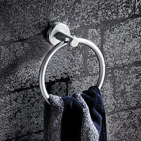 毛巾环 太空铝毛巾架 卫生间置物架 圆形毛巾挂圈 挂布环亏本清仓