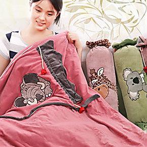 糖果全棉可爱创意抱枕被两用靠垫办公室午睡靠枕汽车空调被子
