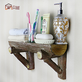 创意树脂田园仿木墙挂壁挂置物架花架装饰架搁板收纳架挂件包邮