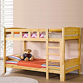 木床定做特价儿童子母床高低床实木双层床上下床实木松木原木双层