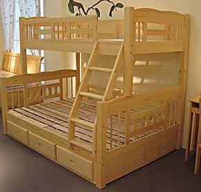 儿童床上下床高低床子母床母子床上下铺双层床实木松木家具宜家