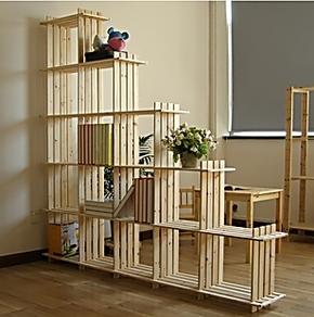 正品包邮|宜家简易书架书柜特价儿童书架实木创意书架桌上15格架